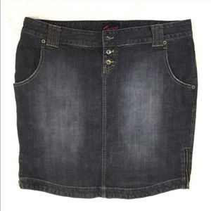 Torrid Denim Skirt Gray Plus Size 18 Distressed